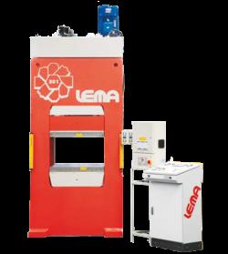 Pressa oleodinamica per stampaggio elastomeri